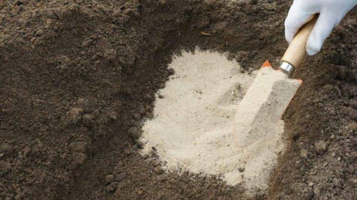 добавление песка в грунт