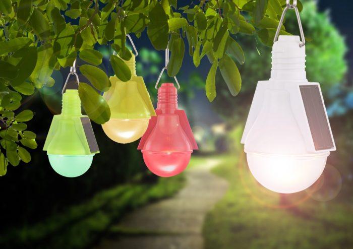 Лампа без электричества на даче