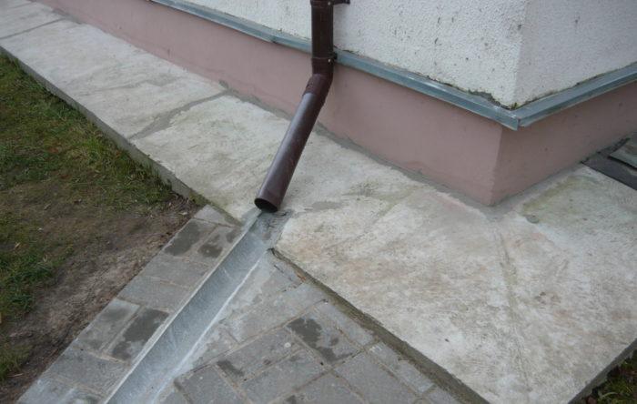 Ливневка для отведения воды на даче
