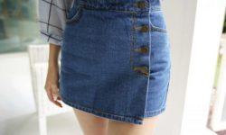 юбка шорты из джинс