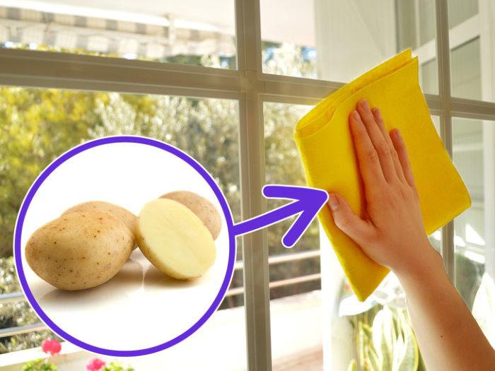 мытье окон картофелем