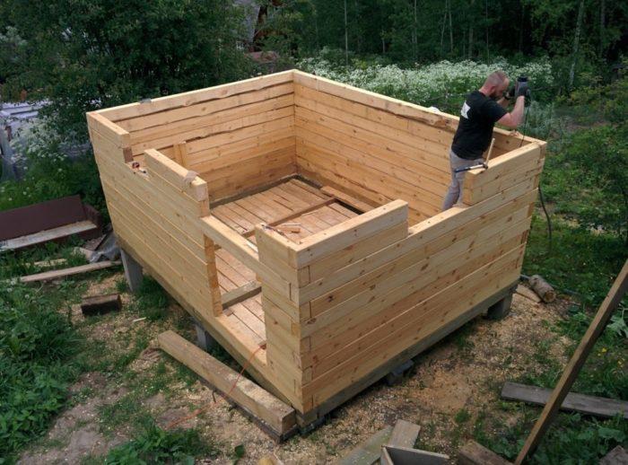 из каких материалов нельзя строить баню