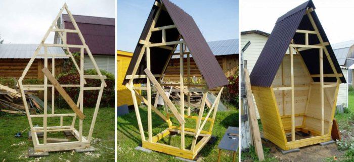 строим туалет на даче своими руками