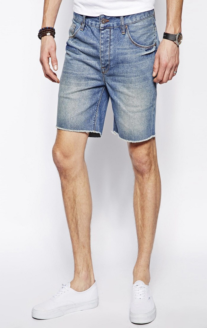 мужские шорты из старых джинс