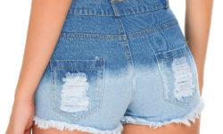 женские джинсовые шорты с покраской