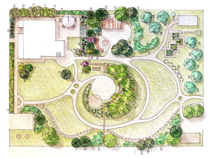 план ландшафтного дизайна