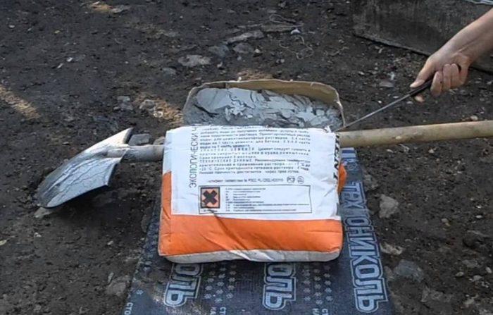 Как разделить мешок цемента пополам без пыли