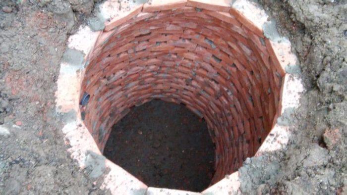 Выгребная яма без откачки из кирпича на даче
