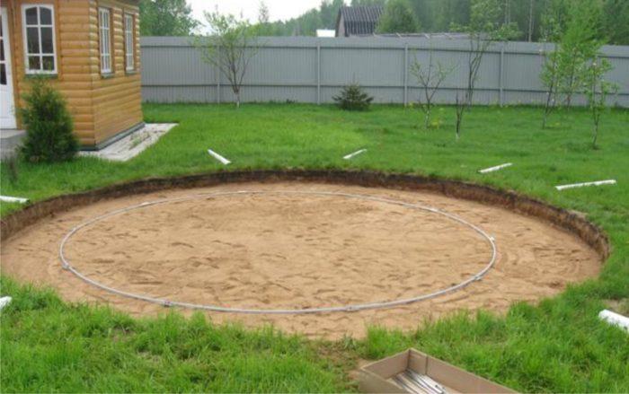 подготовка площадки под бассейн