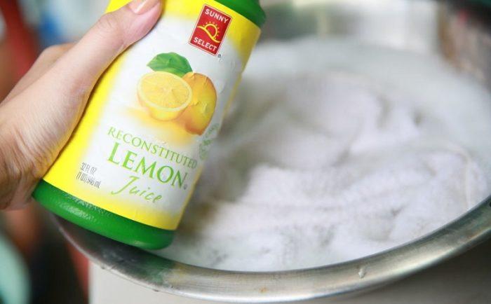 отбеливание тюли лимонной кислотой