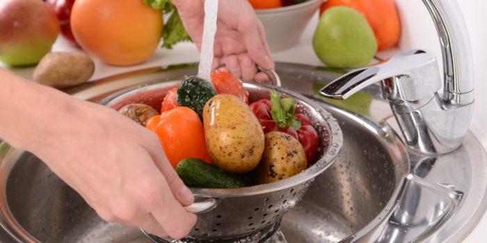 Мытье овощи