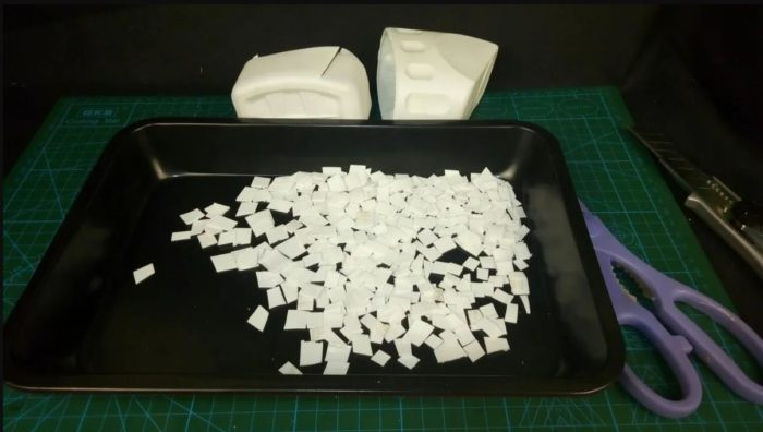 нарезаем пластик в духовку