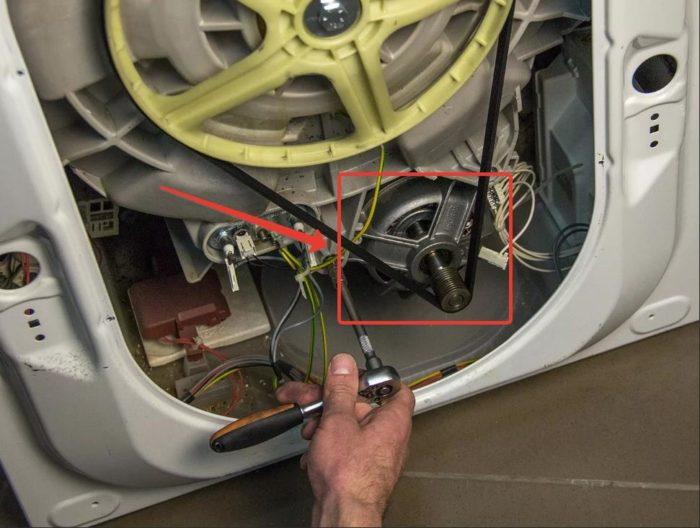 проблемы с мотором в стиральной машине