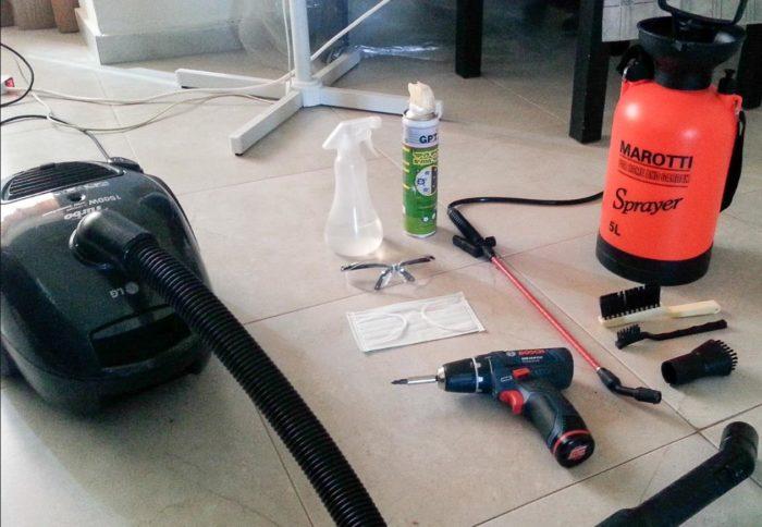 инструменты для чистки домашнего кондиционера