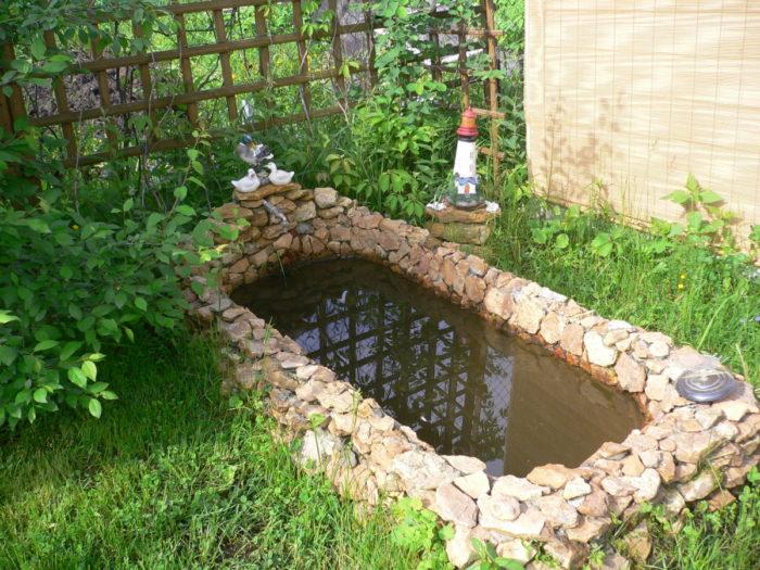 пруд из ванной