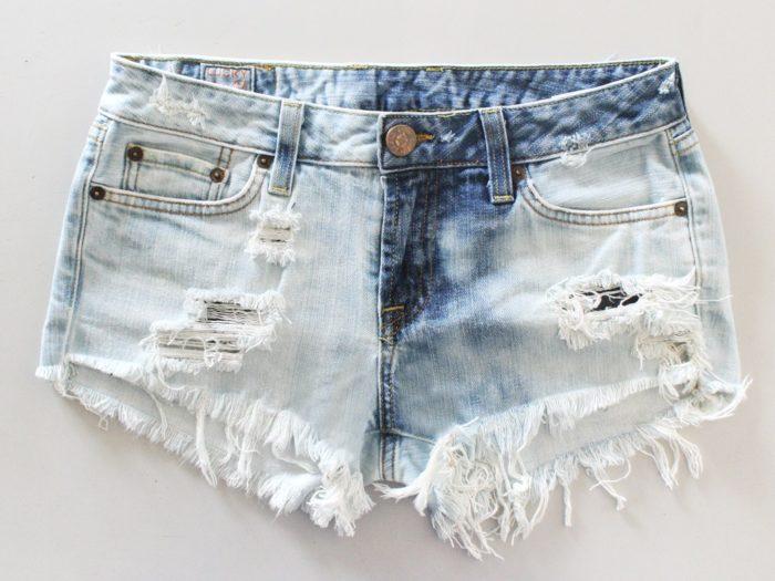 женские шорты из старых джинс