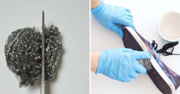 Необычное применение металлической губки