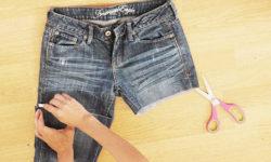 как правильно обрезать джинсы