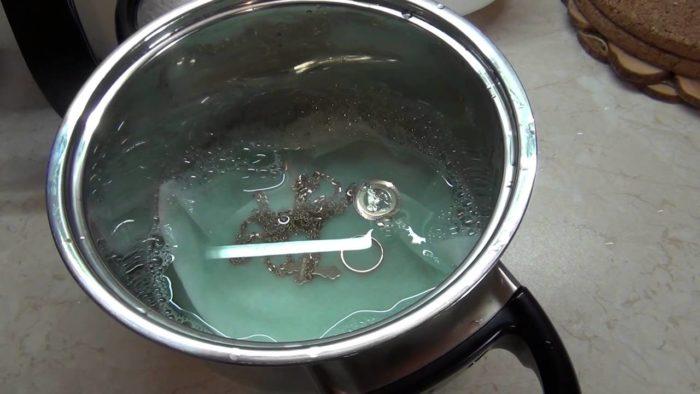 чистка золота методом кипячения