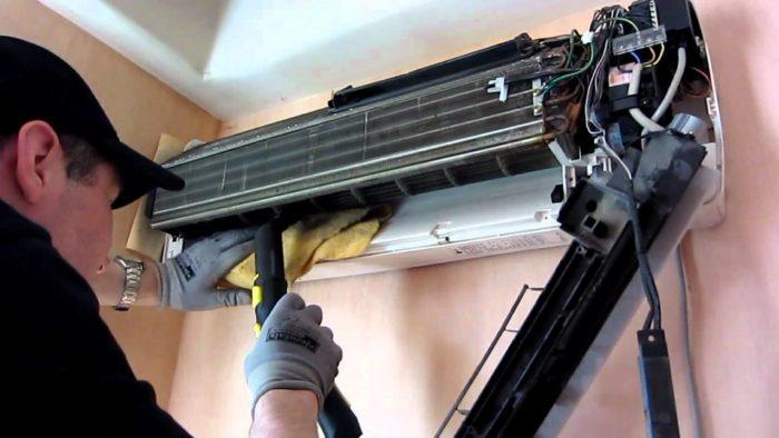 очистка радиатора кондиционера