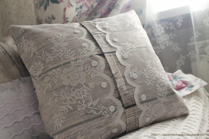 Подушка из тюля