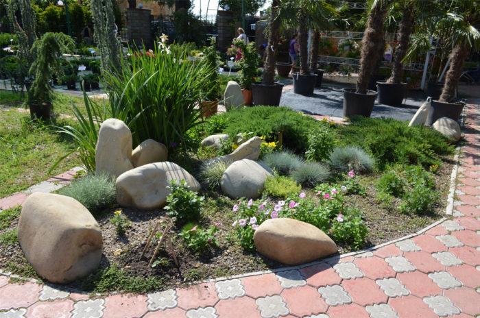использование камней для дизайна участка