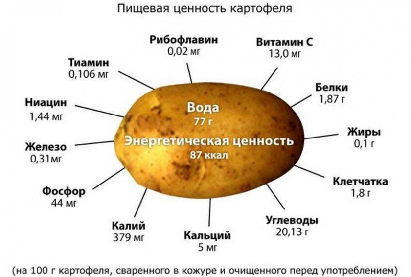 энергетическая ценность картофеля