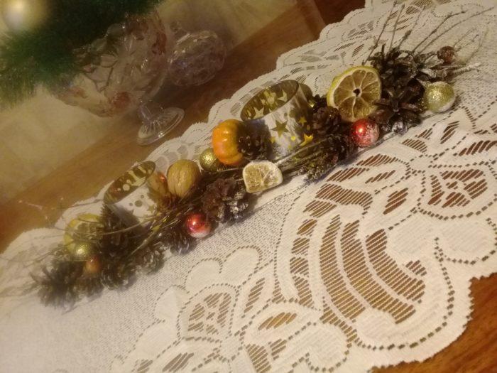 Декоративная дорожка на стол из тюля