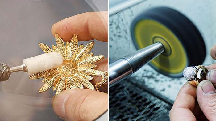 механическая очистка золотых изделий