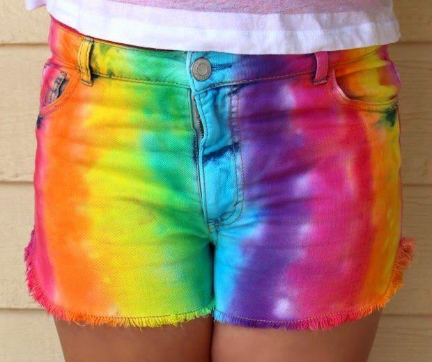 женские шорты с покраской