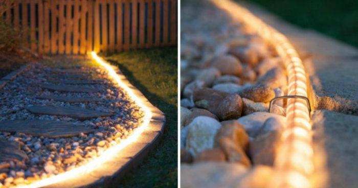 Освещение садовой дорожки
