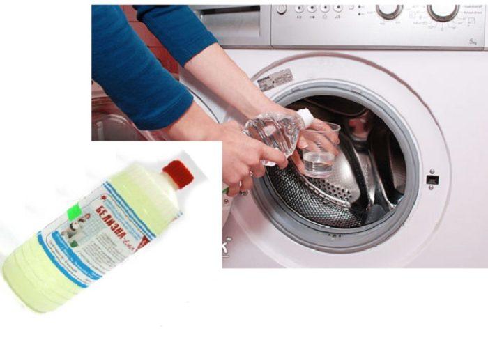 чистим стиральную машинку белизной