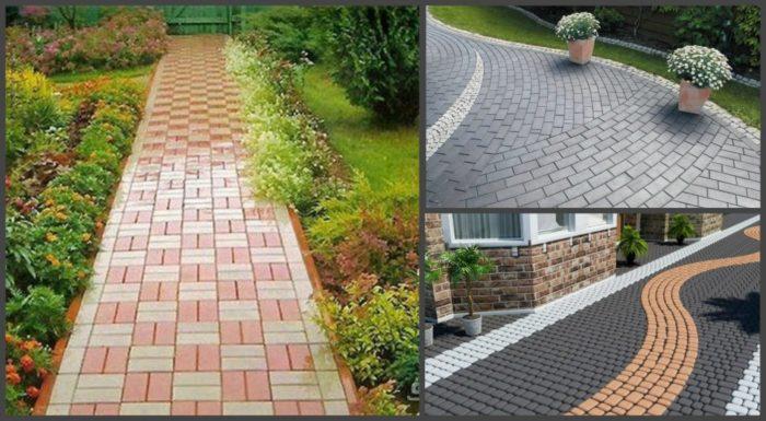 области применения тротуарной плитки