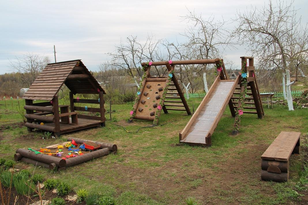Чертежи детских площадок из дерева своими руками