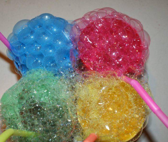 Рецепты цветных мыльных пузырей
