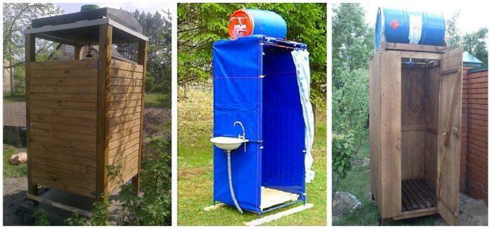 варианты установки бака с водой на душ