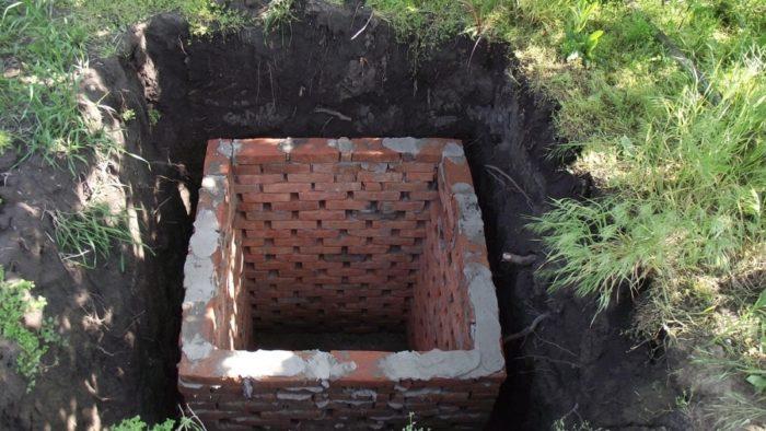 Земляная яма с фильтрацией