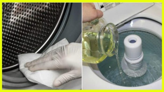чистим стиральную машинку перекисью водорода