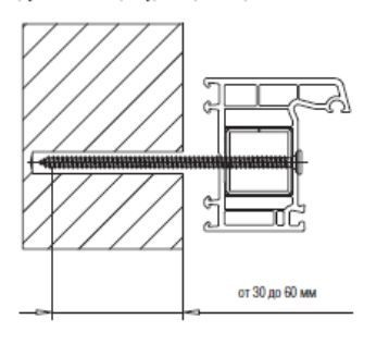 схема установки ПВХ окна на шуруп