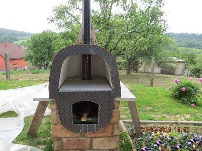 печка для дачи своими руками