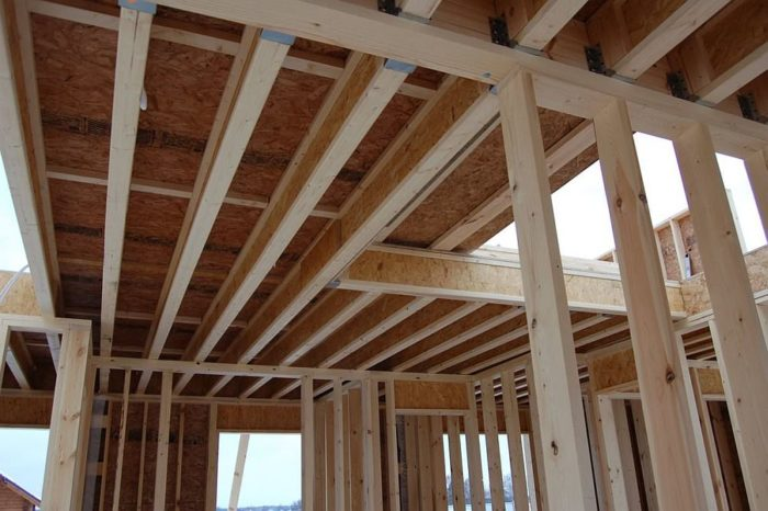 Устройство потолка каркасного дома без утепления