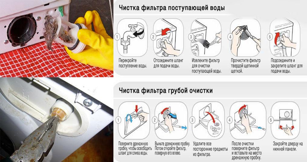 очистка фильтров стиральной машины