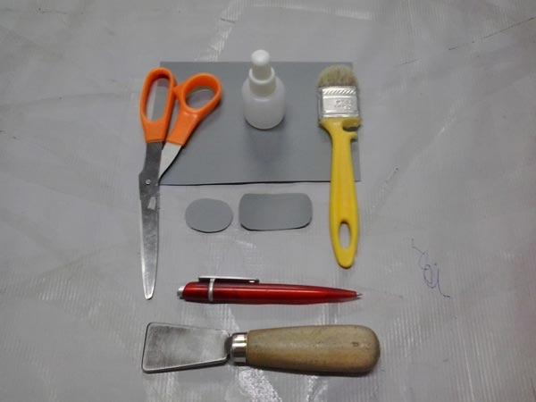 инструменты для ремонта надувного матраса