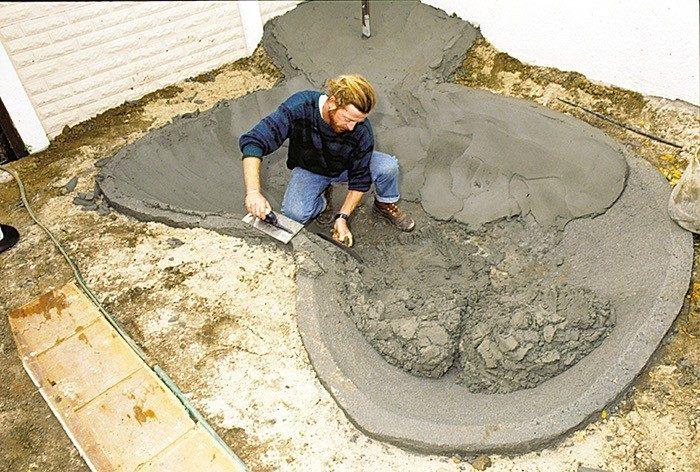 Пруд из бетона