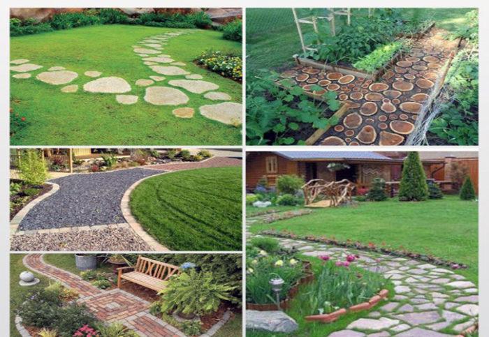 варианты садовых дорожек