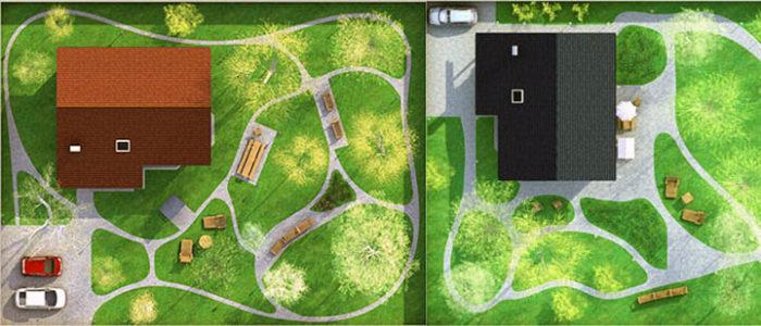 планирование дорожек на даче