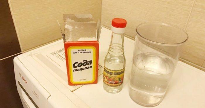 чистим стиралку пищевой содой