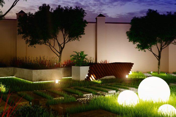 декоративное освещение на дачном участке