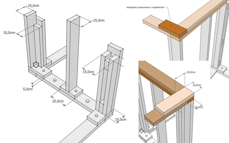 Монтаж верхней обвязки и перекрытия