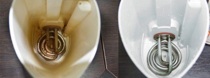 Чистим пластиковый чайник от накипи